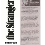 SLR in The Stranger - October 2011