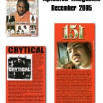 Crytical &amp; 151 in Xplosive Magazine - Dec 2005